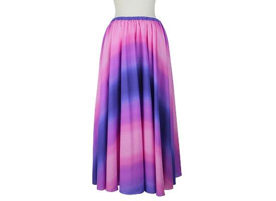 サーキュラースカート ピンクと紫の グラデーション柄 33007-2270PiPP