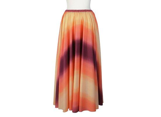 サーキュラースカート オレンジと紫の グラデーション柄 33007-2270ORPP