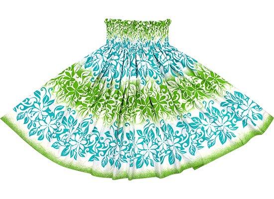 クリーム色と水色のパウスカート ティアレ・ボーダー柄 spau-2623CRAQ