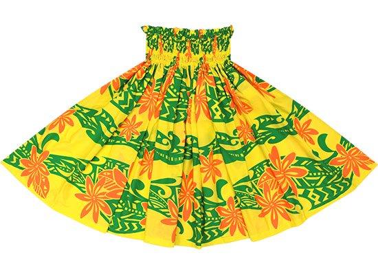 黄色のパウスカート ティアレ・タパ柄 spau-rm-2629YW-75cm-4line 【既製品】