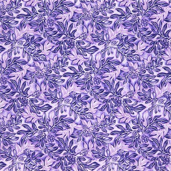 紫のハワイアンファブリック ウル総柄 fab-2635PPPP 【4yまでメール便可】