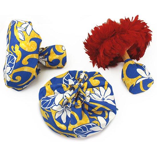 黄色と青のウリウリケース セパレートタイプ 1セット(2個) ティアレ・タパ柄 uliulicaseB-2548YWBL【既製品】