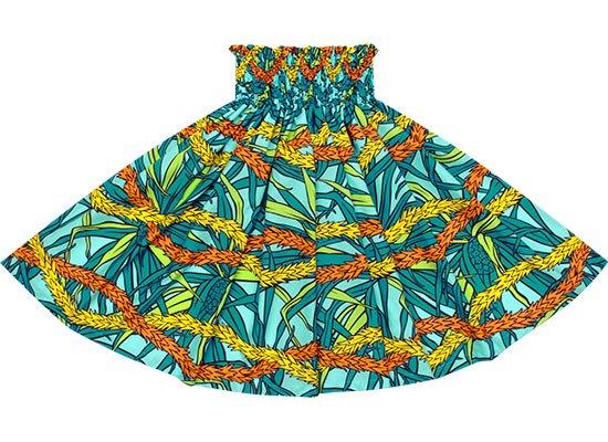 水色のパウスカート ハラ・レイ柄 spau-2652AQ