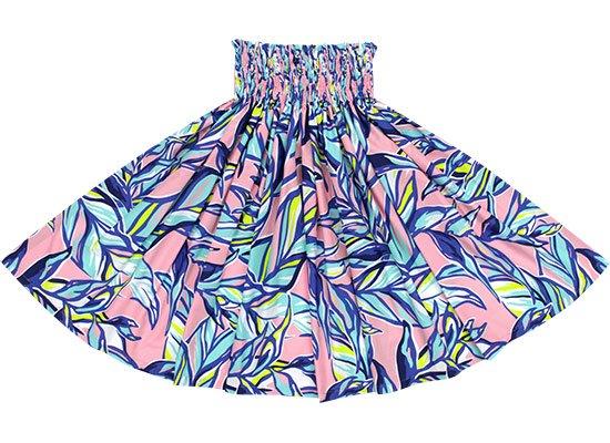 ピンクと青のパウスカート リーフ柄 spau-2644PiBL