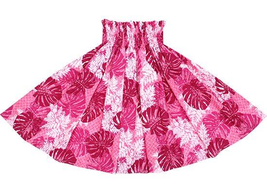 ピンクのパウスカート モンステラ・パラパライ柄 spau-2646Pi