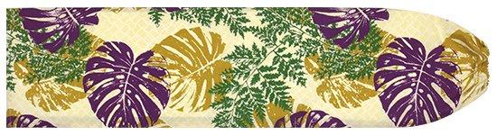 ベージュと紫のパウスカートケース モンステラ・パラパライ柄 pcase-2646BGPP 【メール便可】★オーダーメイド