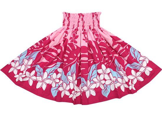 ピンクのパウスカート プルメリア・モンステラ柄 spau-2647Pi