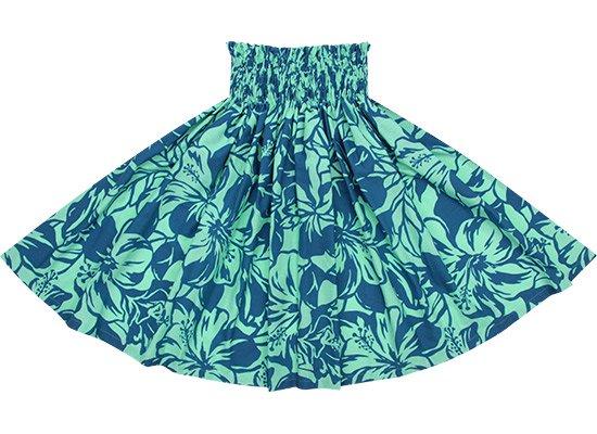水色のパウスカート ハイビスカス柄 spau-2650AQ