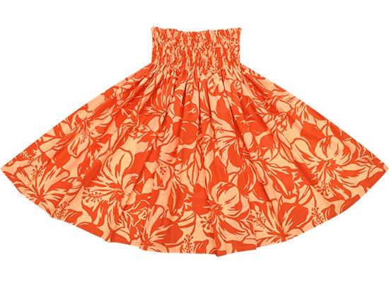 オレンジのパウスカート ハイビスカス柄 spau-2650OR