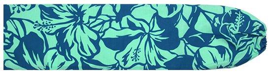 水色のパウスカートケース ハイビスカス柄 pcase-2650AQ 【メール便可】★オーダーメイド