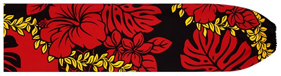 黒のパウスカートケース ハイビスカス・モンステラ・レイ柄 pcase-2651BK 【メール便可】★オーダーメイド