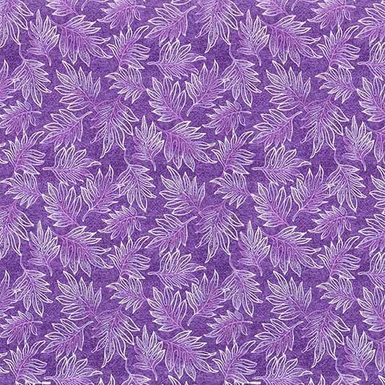 紫のハワイアンファブリック ラウアエ柄 fab-2653PP 【4yまでメール便可】【NPS】