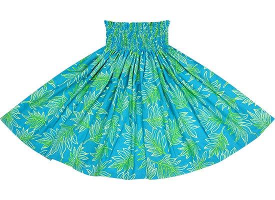 水色のパウスカート ラウアエ柄 spau-2653AQ
