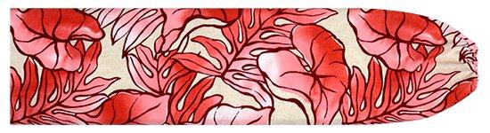 クリーム色とピンクのパウスカートケース タロ・ラウアエ柄 pcase-2655CRPi 【メール便可】★オーダーメイド