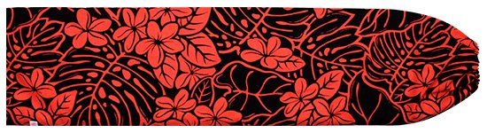 黒のパウスカートケース プルメリア・モンステラ柄 pcase-2657BK 【メール便可】★オーダーメイド