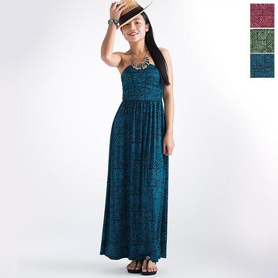 【リゾートライン】ドレープチューブトップワンピース ドレス 71018 カヒコ柄 M,Lサイズ【色とサイズが選べる】【既製品】