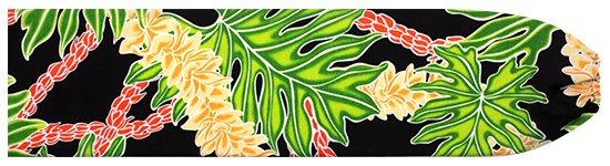 黒のパウスカートケース ラウアエ・フラワーレイ柄 pcase-2666BK 【メール便可】★オーダーメイド