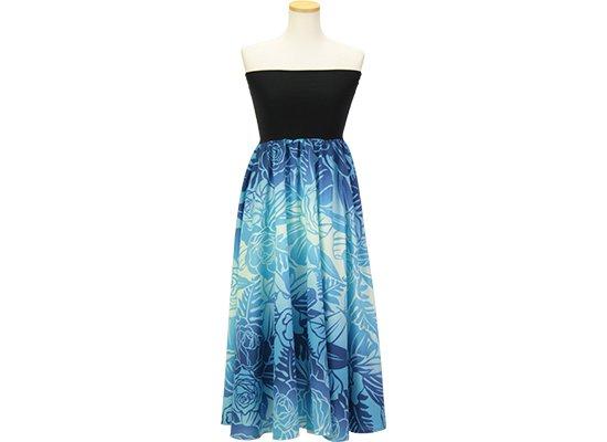 2wayチューブトップドレス ワンピース ロケラニ・グラデーション柄 51009-2667BL