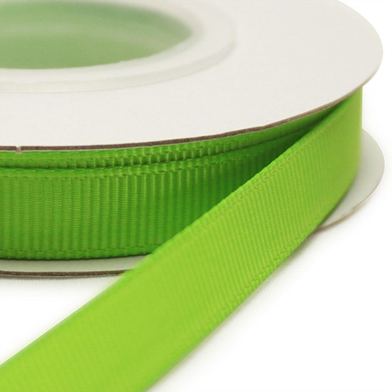 グログランリボン アップルグリーン 10ヤード 9mm幅 [550]Apple Green 【メール便可】