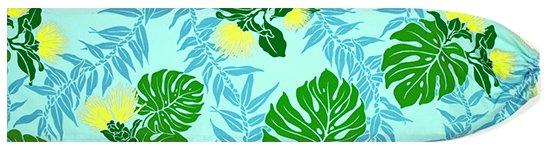 水色のパウスカートケース レフア・モンステラ・ティリーフ柄 pcase-2674AQ 【メール便可】★オーダーメイド
