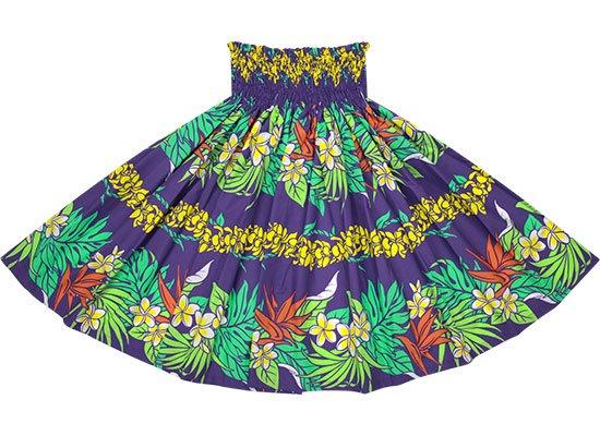 紫のパウスカート プルメリア・バードオブパラダイス柄 spau-2677PP【NPS】