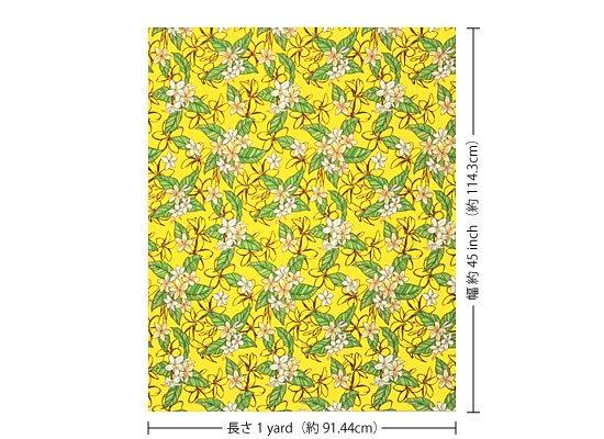 黄色のハワイアンファブリック プルメリア柄 fab-2680YW 【4yまでメール便可】【NPS】