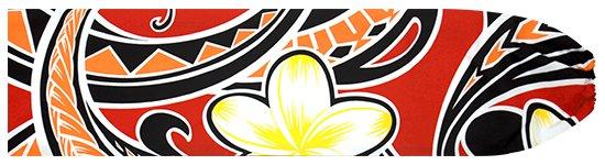 赤のパウスカートケース プルメリア・タパ柄 pcase-2685RD  【メール便可】 ★既製品