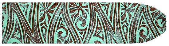 水色のパウスカートケース ティアレ・タパ柄 pcase-2687AQ 【メール便可】★オーダーメイド