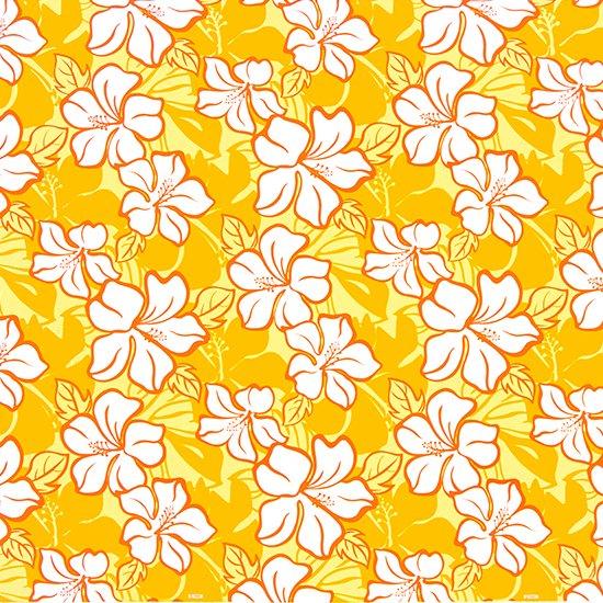 黄色のハワイアンファブリック ハイビスカス柄 fab-2688YW 【4yまでメール便可】【NPS】