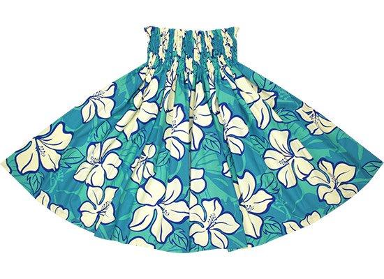 青のパウスカート ハイビスカス柄 spau-2688BL