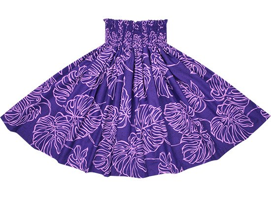 紫のパウスカート モンステラ柄 spau-2689PP【NPS】