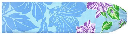 水色のパウスカートケース ハイビスカス柄 pcase-2690AQ 【メール便可】★オーダーメイド