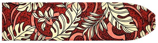 赤のパウスカートケース モンステラ柄 pcase-2691RD  【メール便可】 ★既製品