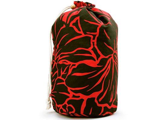 出し入れしやすい 黒のイプケース スタンダードタイプ ハイビスカス柄 ipucase-rope-2527BK イプバッグ 【既製品】
