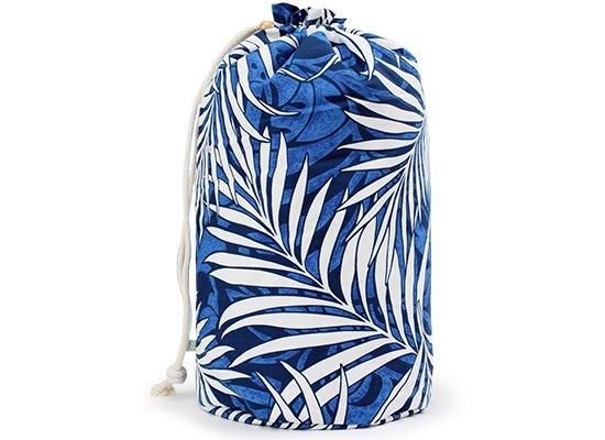 出し入れしやすい 青のイプケース スタンダードタイプ ヤシ総柄 ipucase-rope-1485 イプバッグ 【既製品】