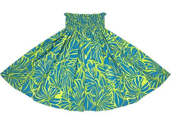 水色のパウスカート ハイビスカス柄 spau-2694AQ