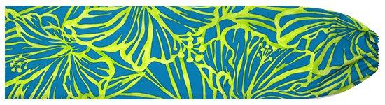 水色のパウスカートケース ハイビスカス柄 pcase-2694AQ 【メール便可】★オーダーメイド