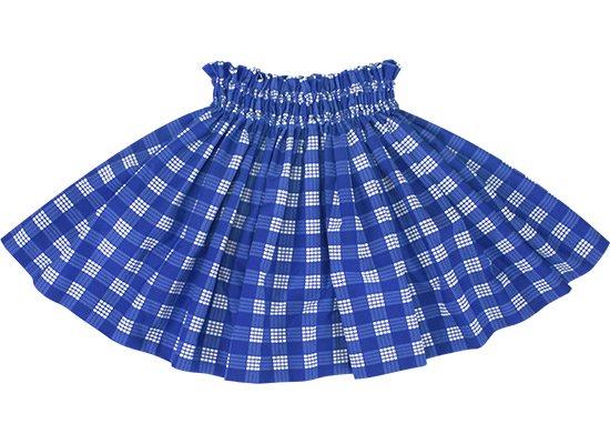 【ケイキ(子供)用】 青のパウスカート パラカ柄 kpau-2028BL 37cm 2本ゴム【既製品】