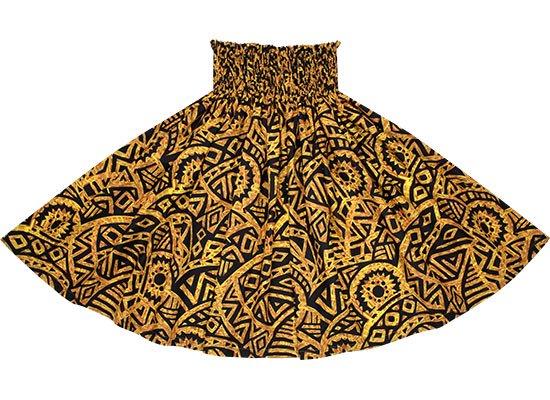 茶色のパウスカート タパ・カヒコ柄 spau-2695BR