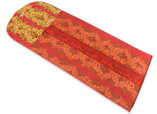 赤のドレスカバー プルメリア・ボーダー柄 2506RD