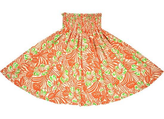 オレンジのパウスカート ハイビスカス柄 spau-2696OR