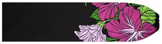 黒のパウスカートケース ハイビスカス・ヤシ柄 pcase-2698BK 【メール便可】★既製品
