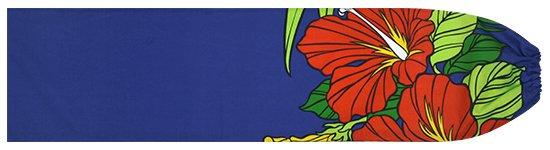 青のパウスカートケース ハイビスカス・ヤシ柄 pcase-2698BL 【メール便可】★既製品