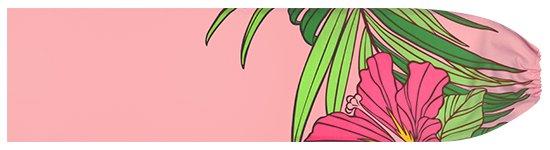 ピンクのパウスカートケース ハイビスカス・ヤシ柄 pcase-2698Pi 【メール便可】★既製品