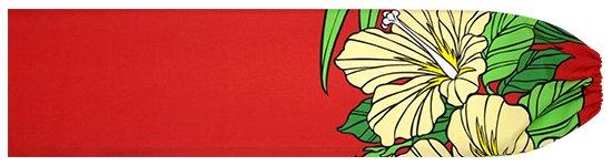 赤のパウスカートケース ハイビスカス・ヤシ柄 pcase-2698RD 【メール便可】★既製品