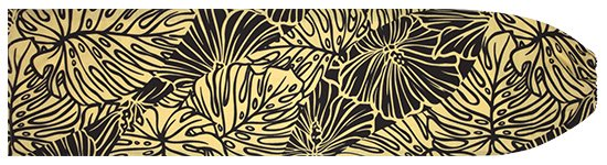 ベージュのパウスカートケース ハイビスカス・モンステラ柄 pcase-2699BG 【メール便可】★オーダーメイド