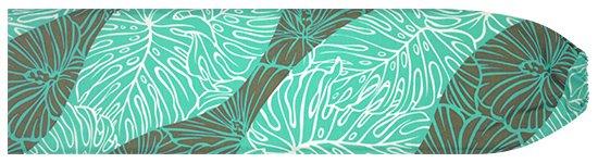 ヒスイ色のパウスカートケース ハイビスカス・モンステラ柄 pcase-2699JD 【メール便可】★既製品