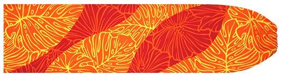 オレンジと赤のパウスカートケース ハイビスカス・モンステラ柄 pcase-2699ORRD  【メール便可】 ★既製品