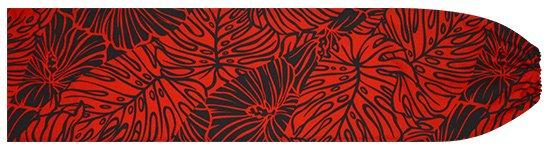 赤のパウスカートケース ハイビスカス・モンステラ柄 pcase-2699RD 【メール便可】★既製品