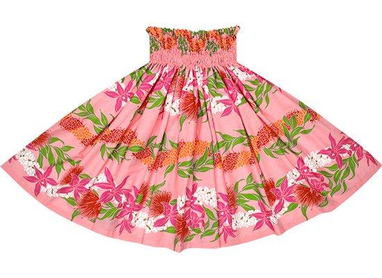 ピンクのパウスカート オーキッド・レフア・レイ・ボーダー柄 spau-rm-2700Pi 75cm 4本ゴム【既製品】
